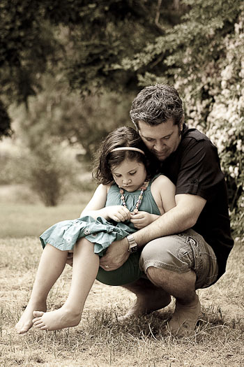 Photograph of a father and daughter