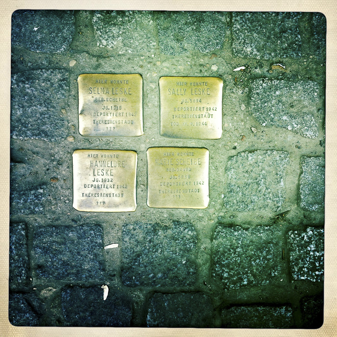 Jewish plaques in Berlin photograph